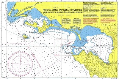 Approaches to Igoumenitsa Bay and Harbour Nautical Chart
