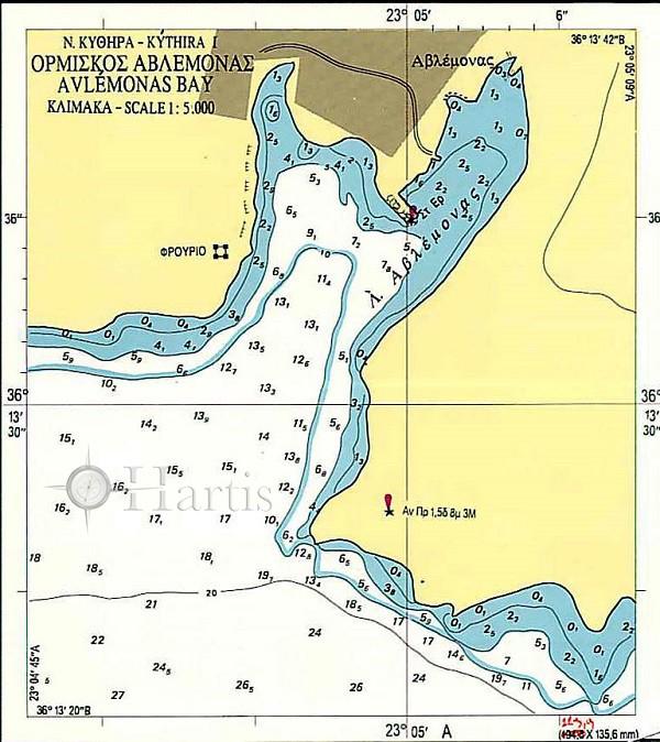 Bays and Harbous of Kythira and Antikythira Islands Nautical Chart