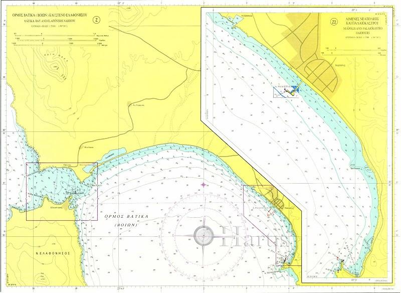 Bays and Harbous of Lakonikos Gulf Nautical Chart