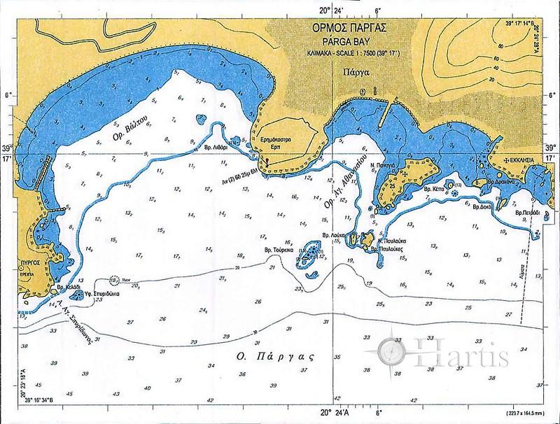 Bays of Ipiros Nautical Chart