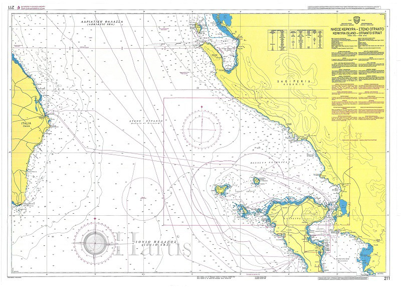 Corfu - Otranto Strait  Nautical Chart