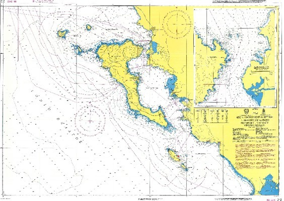 Corfu & Paxoi Islands - Othonoi to Cape Mytikas Nautical Chart