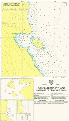 Harbours of Zakynthos Island Nautical Chart