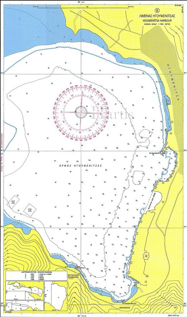 Approaches to Igoumenitsa Bay and Harbour Nautical Chart