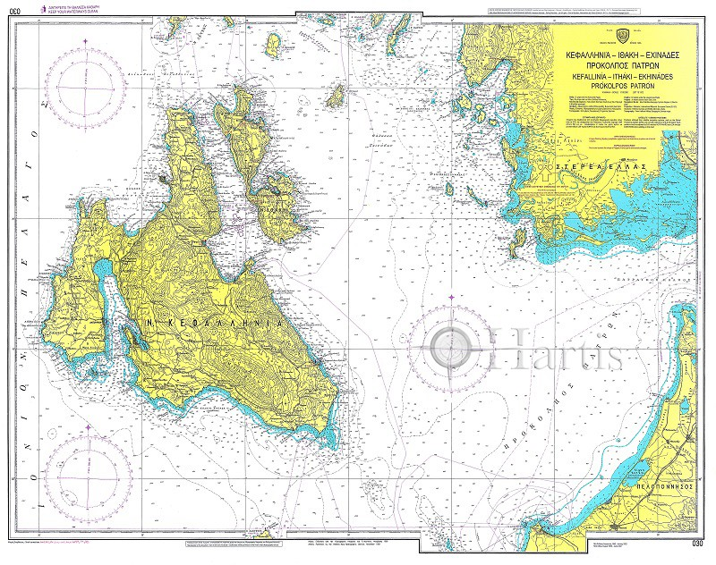 Kefalonia - Ithaca - Echinades Nautical Chart