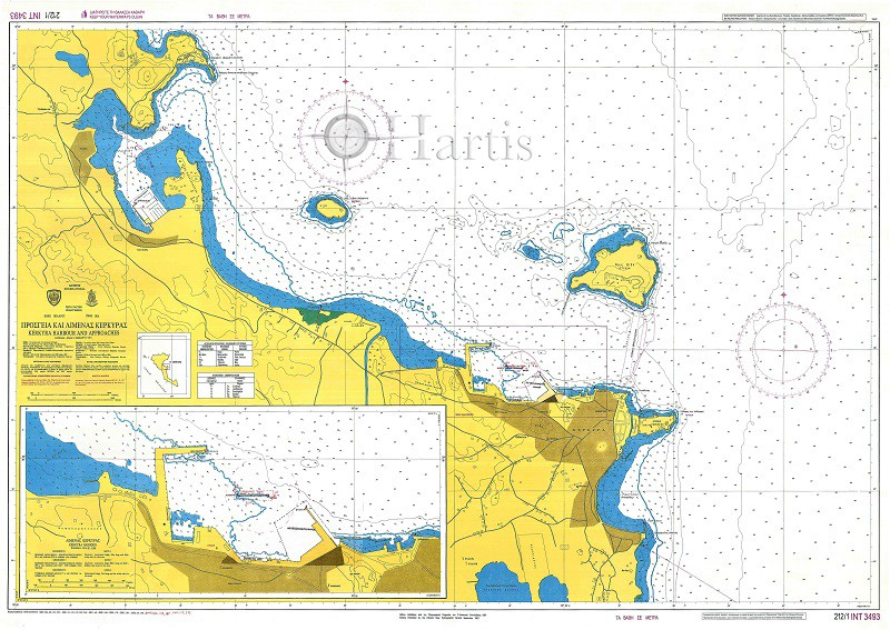 Kerkyra Harbour and Approaches Nautical Chart