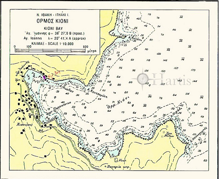 Bays and Anchorages of Kefallinia and Ithaki Islands Nautical Chart