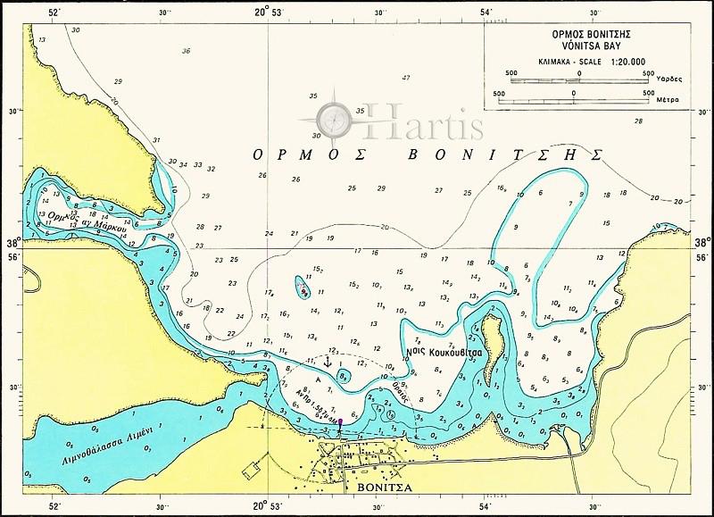 Amvrakikos Gulf Nautical Chart