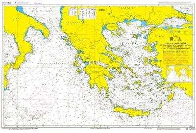 Aegean & Ionian Seas Nautical Chart