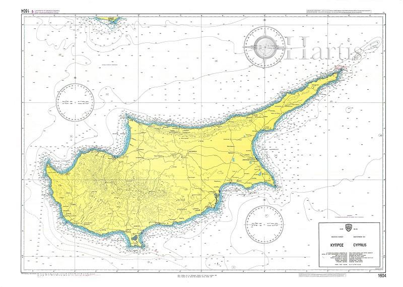 Cyprus Nautical Chart