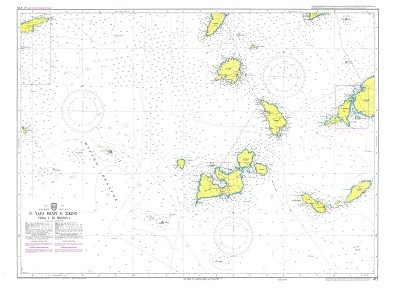 Hydra Island to Sikinos  Nautical Chart