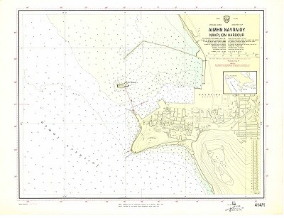 Navplion Harbour (Argolikos Gulf) Nautical Chart