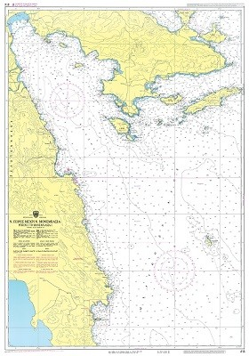 Poros Island to Monemvasia - Myrtoan Sea Nautical Chart