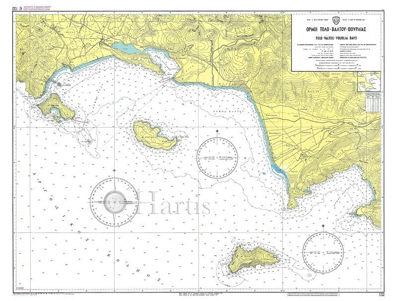 Tolo - Valtos - Vourlia Bays (Argolikos Gulf) Nautical Chart