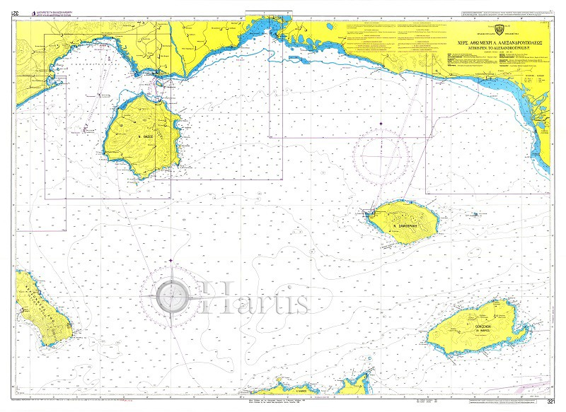 Athos Pen. to Alexandroupolis P. Nautical Chart