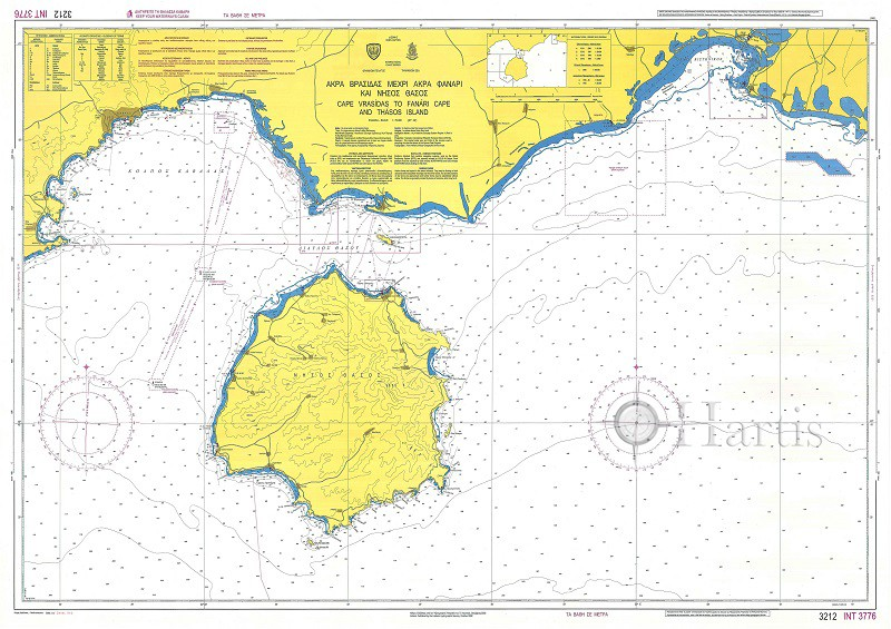 Cape Vrasidas to Cape Fanari and Thassos Island Nautical Chart