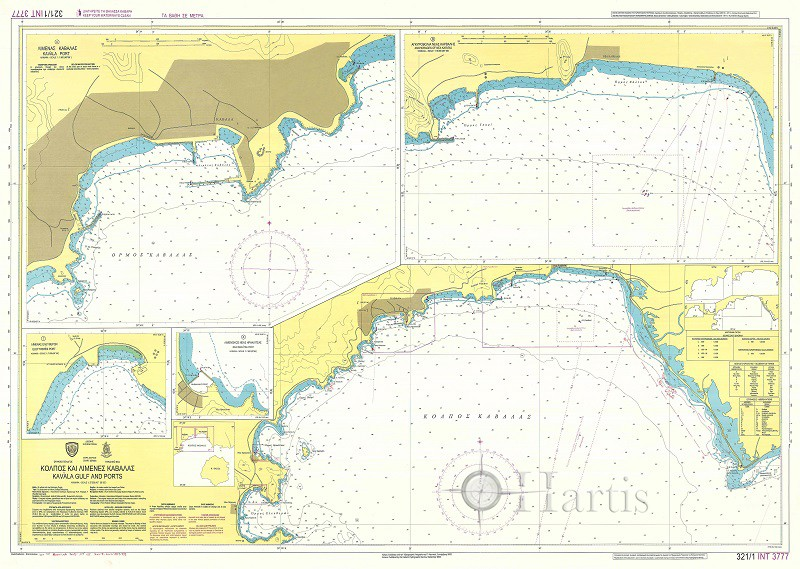 Kavala Gulf and Ports Nautical Chart