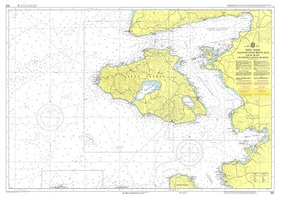 Lesvos Island and Asia Minor Coast  Nautical Chart