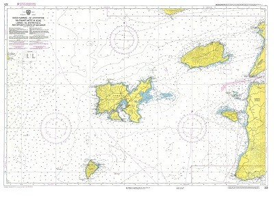 Limnos Island - Ag. Efstratios - opposite Asia Minor Coast  Nautical Chart