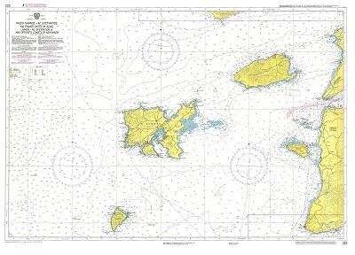 Limnos Island - Ag. Efstratios - opposite Asia Minor Coast  Nautical Chart