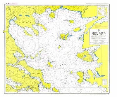 North Aegean Sea Nautical Chart