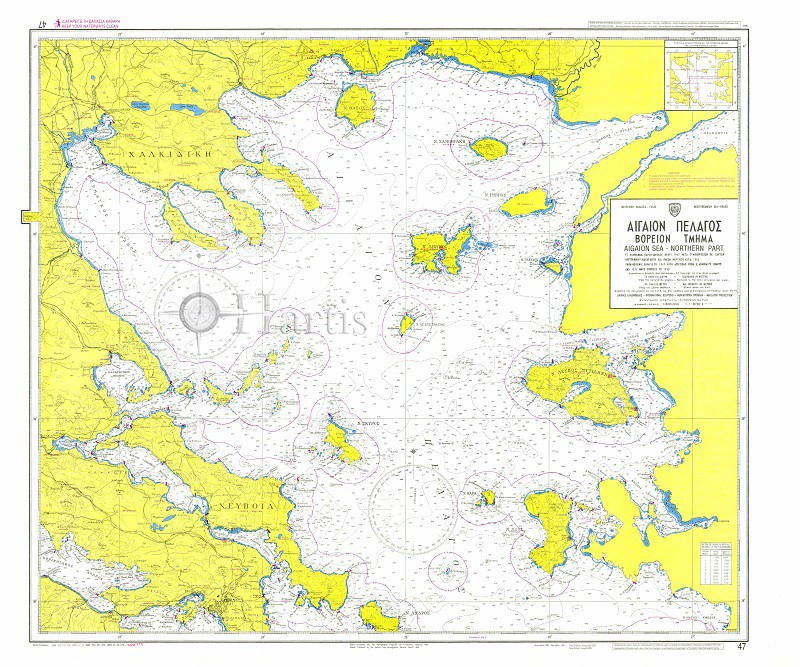 North Aegean Sea Nautical Chart