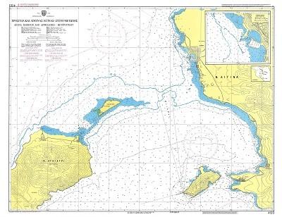 Aigina Harbour and Approaches - Metopi Strait (Saronikos Gulf) Nautical Chart