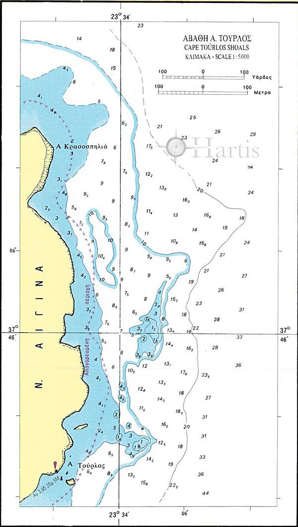Saronikos Gulf Nautical Chart