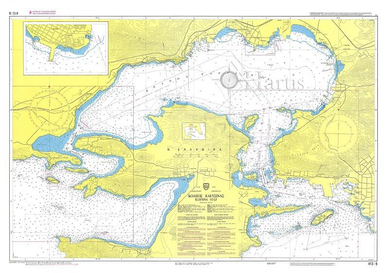 Elefsina Gulf (Saronikos Gulf) Nautical Chart