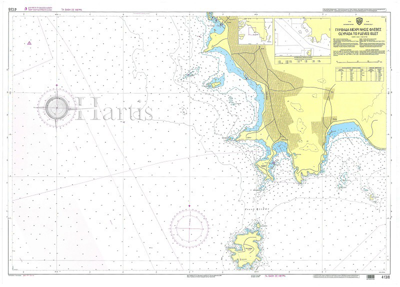 Glyfada to Fleves Islet Nautical Chart