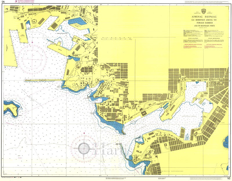 Peiraias Harbour and its Secondary Ports Nautical Chart