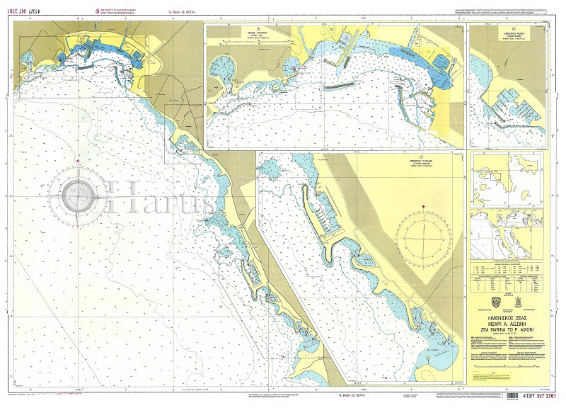 Zea Marina to Cape Aixoni Nautical Chart