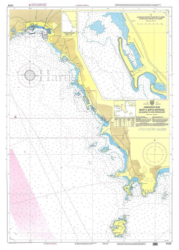 Zea Marina to Vari Bay (Varkiza) Nautical Chart