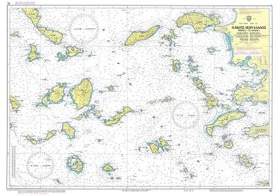 Andros to Chalki Island Nautical Chart