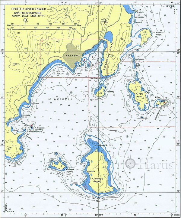 Bays and Harbours of North Sporades - Kymi Harbour Nautical Chart