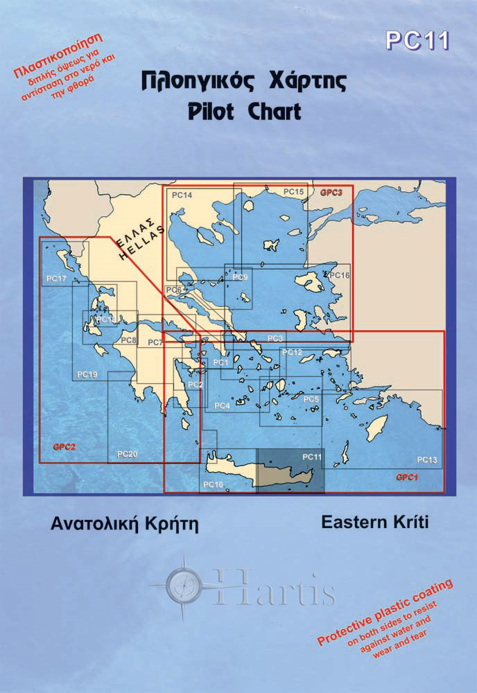 Eastern Crete Pilot Nautical Chart