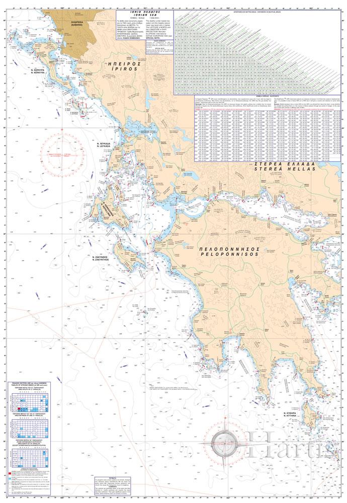 Ionian Sea General Pilot Nautical Chart