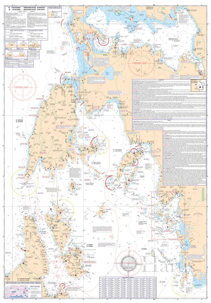 Lefkada - Amvrakikos Gulf Pilot Nautical Chart