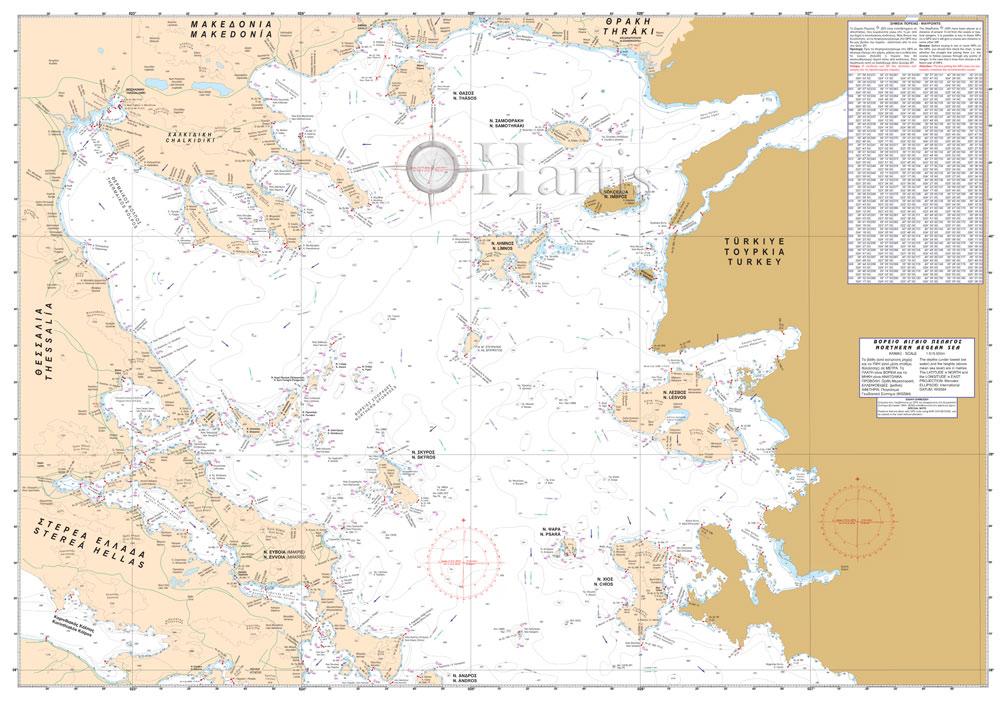 North Aegean Sea General Pilot Nautical Chart