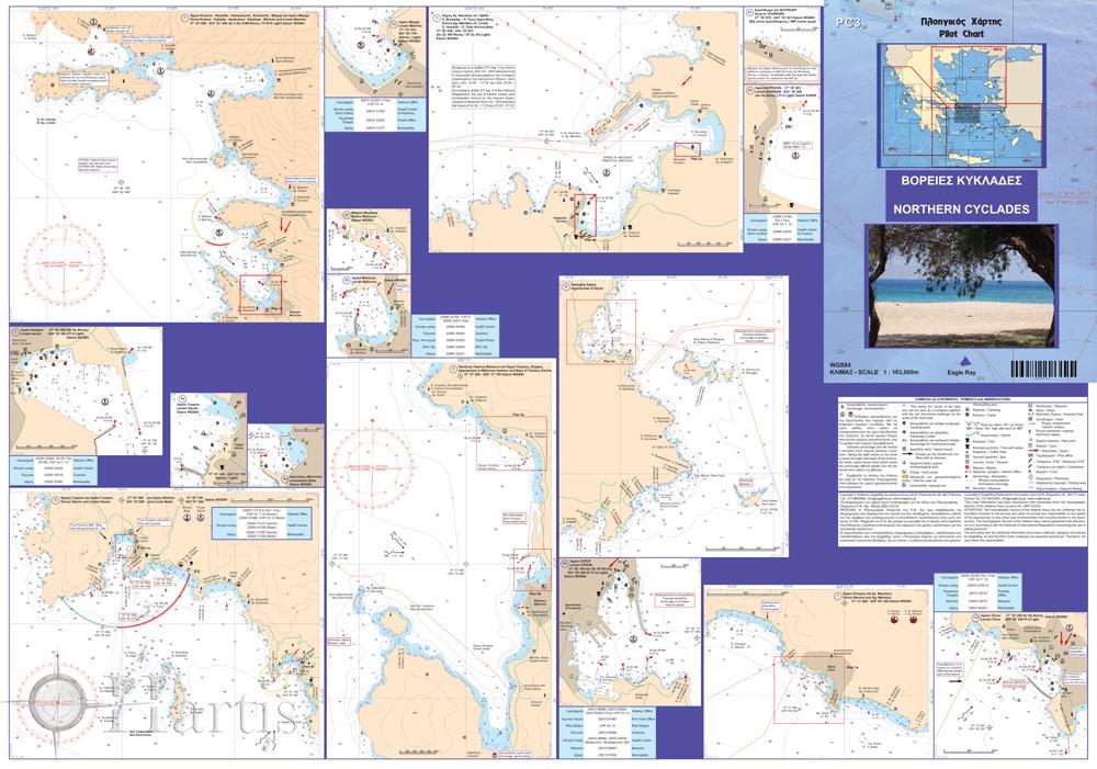 North Cyclades Pilot Nautical Chart