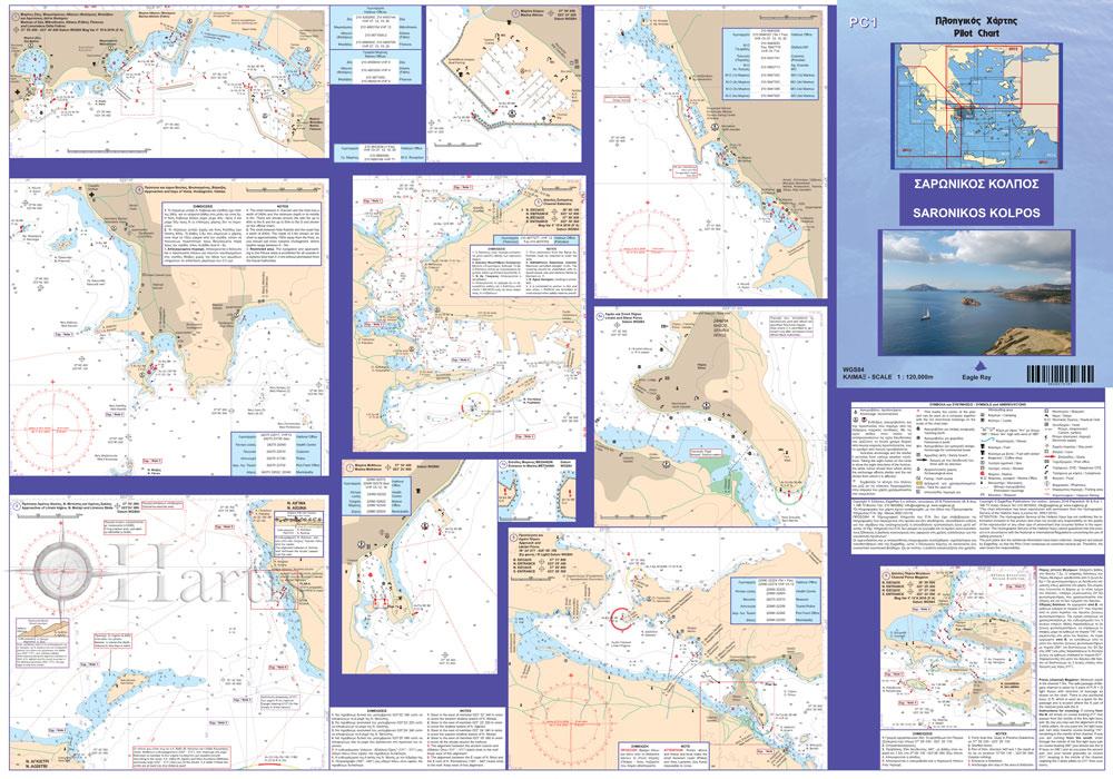 Saronic Gulf Pilot Nautical Chart