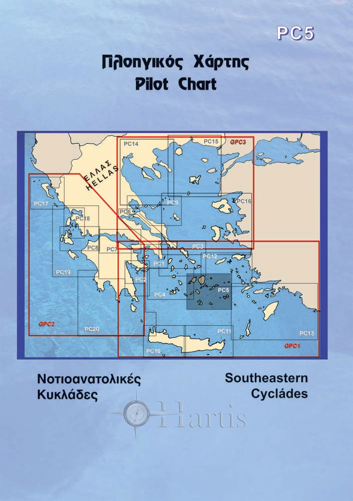 Southeastern Cyclades Pilot Nautical Chart