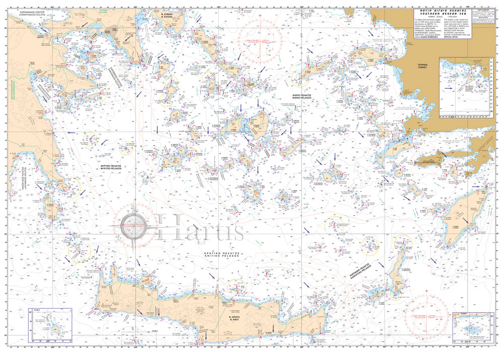 Southern Aegean Sea General Pilot Nautical Chart