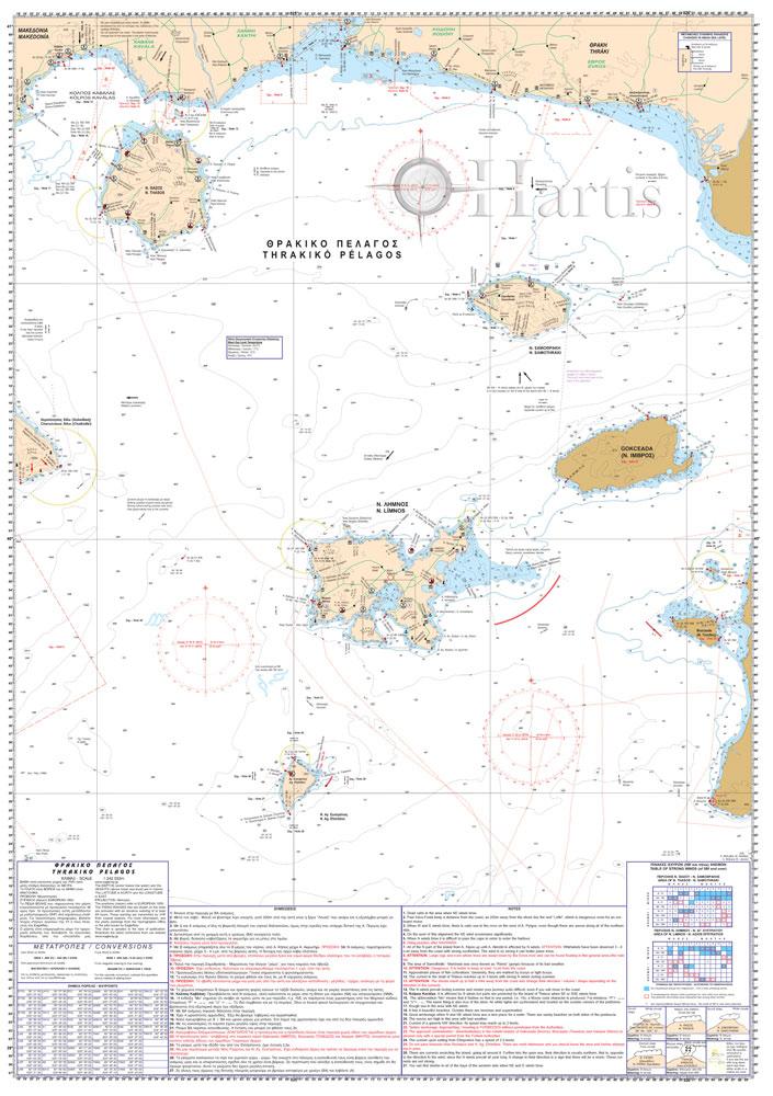 Thrakiko Pelagos Pilot Nautical Chart