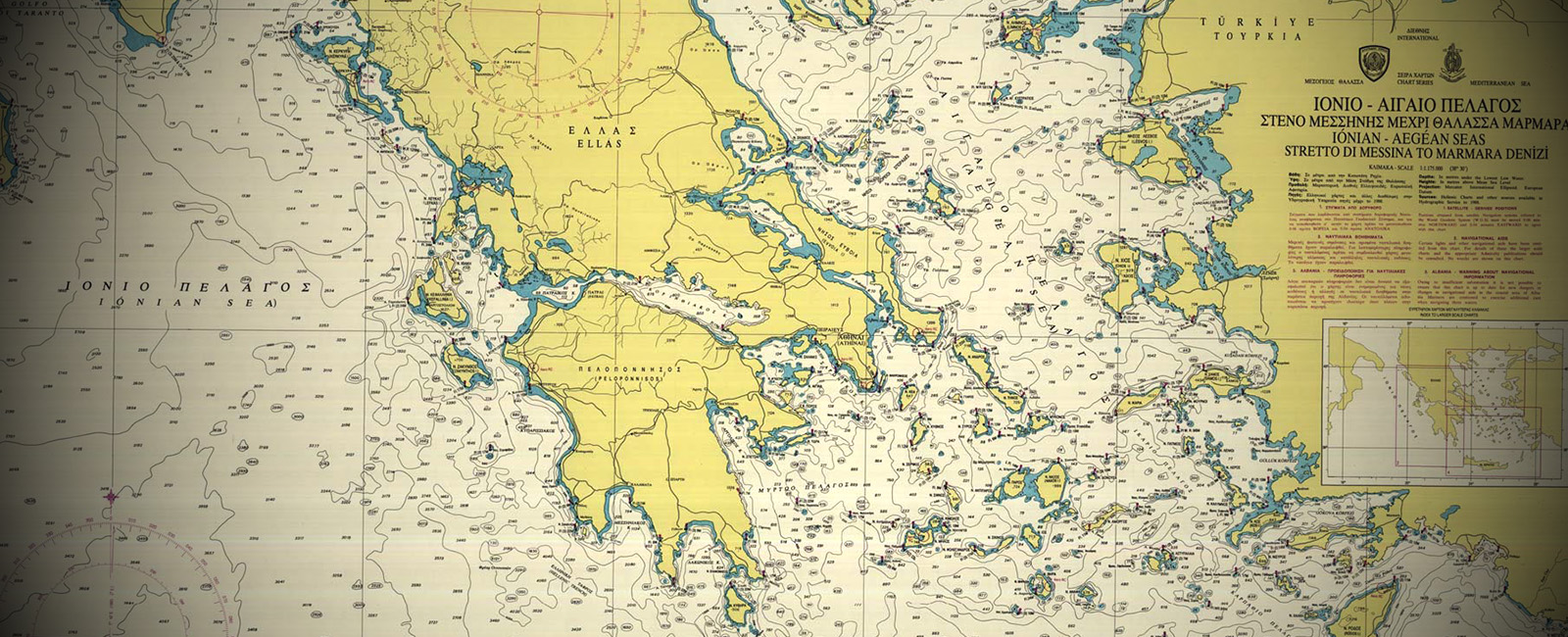 Greek Nautical Chart