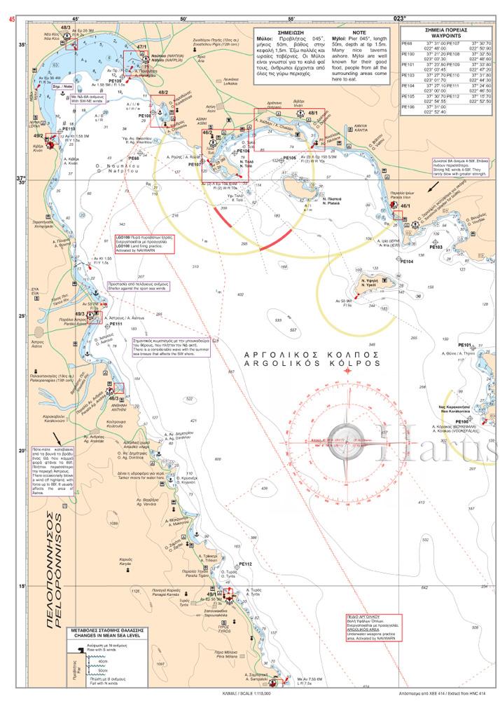 Greece Sea Guide Volume 1 - Saronic, Argolic, Kythera, Cyclades and Crete
