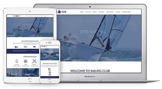 Web Theme for Sailing Clubs