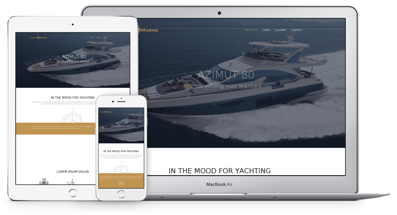 EXCLUSIVE THEME FOR MOTOR YACHTS